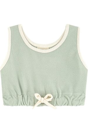 Zulu & Zephyr Terry cloth crop tank top
