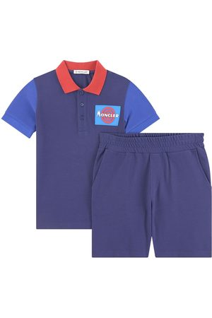 Moncler Logo polo and sportswear bermudas