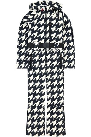 Perfect Moment Print fleece-lined ski suit - Houndstooth Print