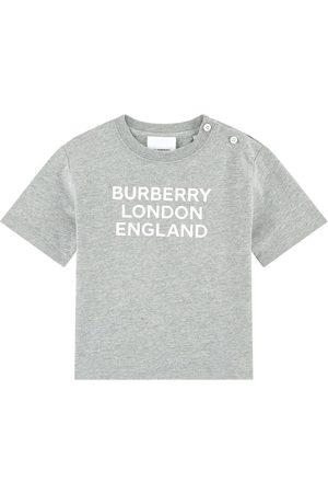 Burberry Kids - Logo T-Shirt Melange - Boy - 12 Months - Grey - T-shirts