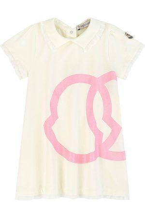 Moncler Girls Casual Dresses - Kids - Logo T-Shirt Dress Navy - Girl - 18-24 months - Navy - Casual dresses