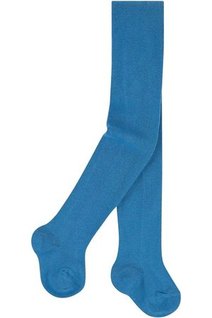CONDOR Girls Stockings - Knitted baby tights - Indigo - Unisex - 6-12 months - - Tights