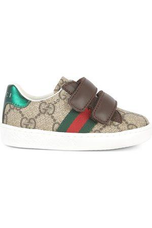 Gucci Monogram print velcro sneakers - GG Suprême