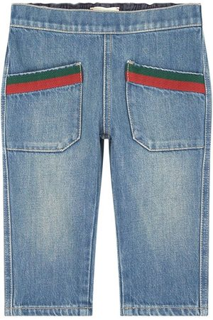 Gucci Regular fit jeans - Bande Web