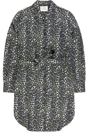 Les Coyotes de Paris Girls Casual Dresses - Kids Sale - Beige Leopard Shirt Dress - Girl - 8 Years - - Party dresses