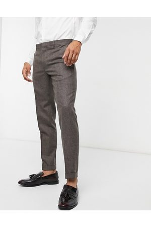 Shelby & Sons Chinos - Slim pants with turn up in tweed