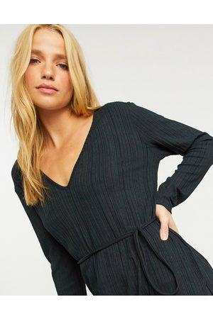 River Island Longline ribbed tunic top in