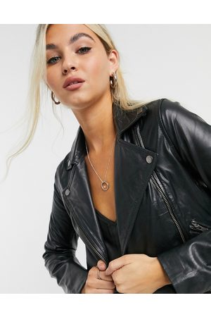 Muubaa Women Leather Jackets - Classic leather biker jacket in