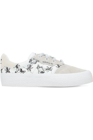 adidas Girls Sneakers - Disney Canvas & Leather Lace-up Sneakers