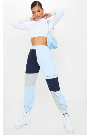 PRETTYLITTLETHING Women Sweatpants - Baby Colourblock Detail Casual Joggers