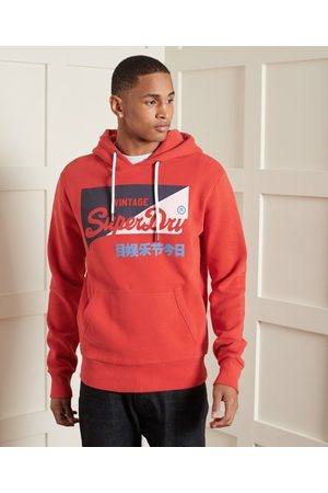 Superdry Sport Vintage Logo Primary Brushed Hoodie