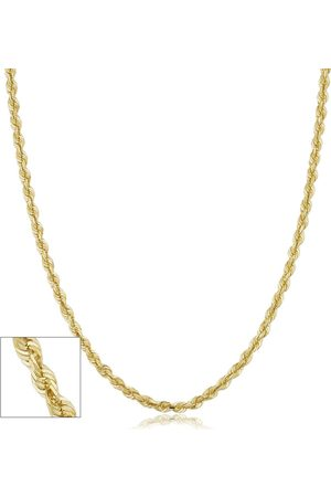 SuperJeweler Necklaces - 14K (7.40 g) 3.8mm Hollow Rope Chain Necklace