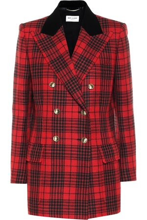 Saint Laurent Checked virgin wool blazer