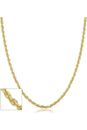 SuperJeweler 14K (5.30 g) 3.3mm Hollow Rope Chain Necklace