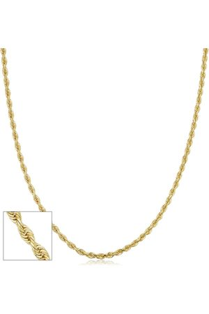 SuperJeweler 14K (6 g) 2.7mm Hollow Rope Chain Necklace