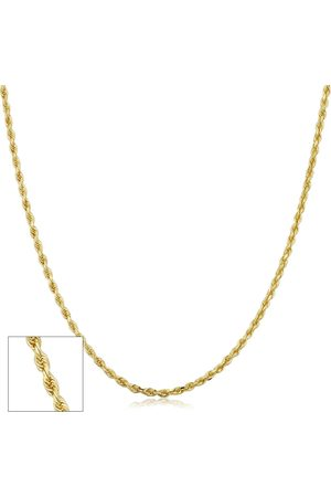 SuperJeweler 14K (2.30 g) 1.9mm Hollow Rope Chain Necklace