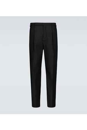 Saint Laurent Wool and silk-blend tailored pants