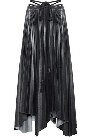 Nanushka Beeja pleated faux leather midi skirt