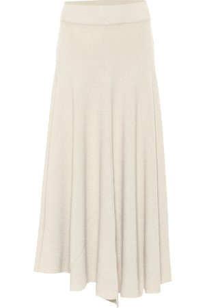 Jil Sander High-rise wool midi skirt