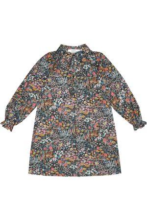 BONPOINT Prune Liberty velour shirt dress