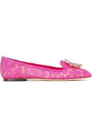 Dolce & Gabbana Women Ballerinas - Vally Taormina lace ballerina shoes