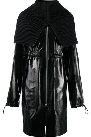 Bottega Veneta Rib-knit funnel neck coat