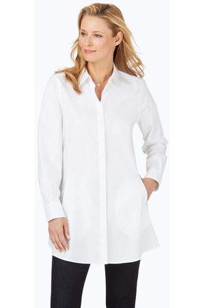 Foxcroft Women Tunics - Cici Petite Pinpoint Non-Iron Tunic