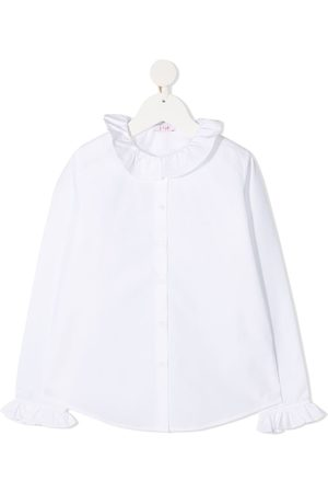 Il gufo Ruffle trim cotton shirt