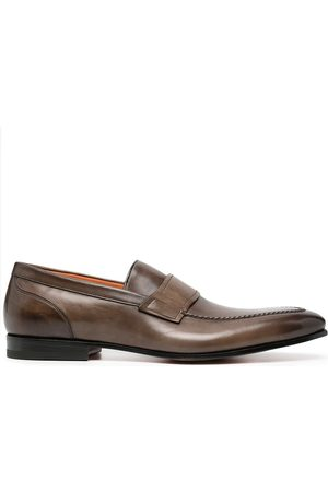 santoni Slip-on leather loafers