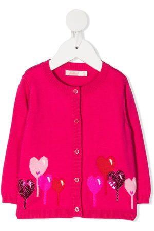 Billieblush Cardigans - Heart-intarsia cardigan