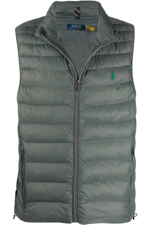 Polo Ralph Lauren Men Gilets - Logo-embroidered quilted gilet - Grey