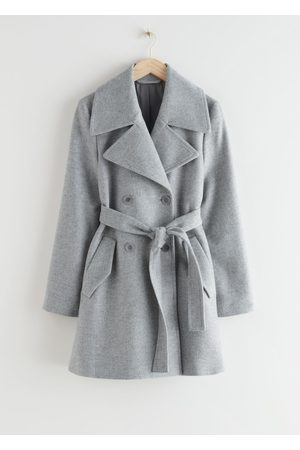 & OTHER STORIES Double Breasted Belted Coat - Grey