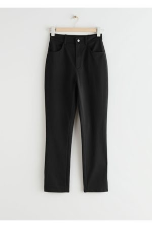& OTHER STORIES Fitted Side Slit Stretch Trousers