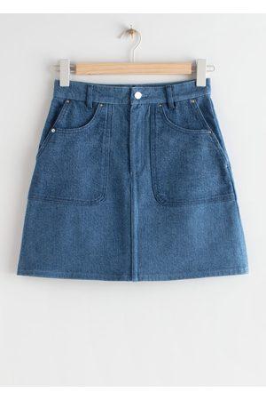 & OTHER STORIES Denim A-Line Mini Skirt