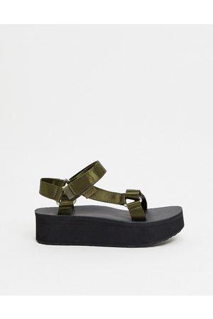 Teva Flatform universal chunky sandals in olive