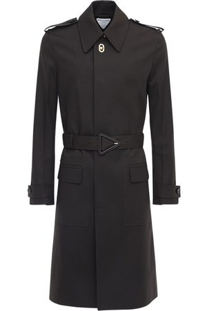Bottega Veneta Waterproof Stretch Cotton Trench Coat