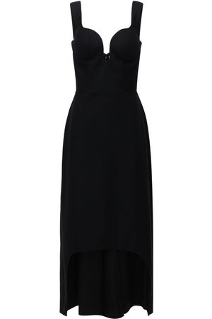 Alexander McQueen Oxbridge Wool Flannel Asymmetric Dress