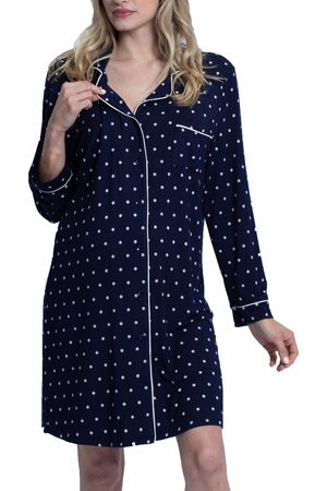 Angel Maternity Women's Polka Dot Maternity/nursing Nightshirt & Baby Wrap Set