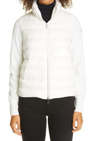 Moncler Women's Quilted Down & Wool Short Cardigan
