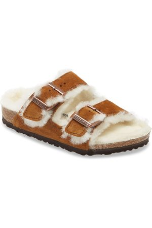 Birkenstock Sandals - Toddler Kids' Arizona Genuine Shearling Slide Sandal