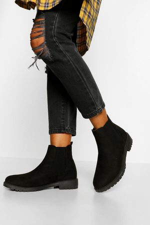 Boohoo Womens Wide Fit Pull On Chelsea Boots - - 5