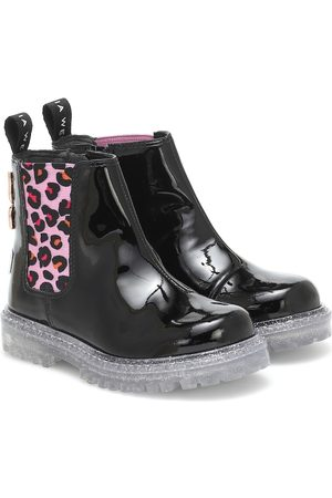 SOPHIA WEBSTER Beau patent-leather ankle boots