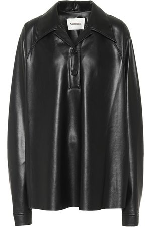 Nanushka Faux-leather shirt