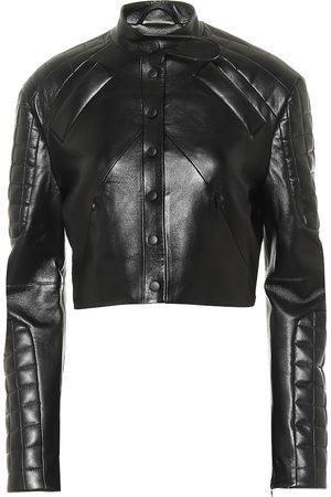 Matériel Tbilisi Faux leather biker jacket