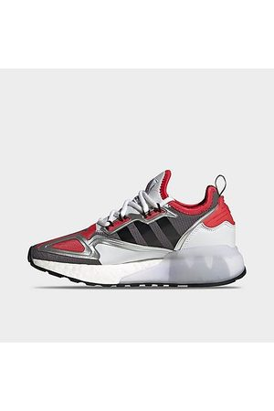 adidas Big Kids' Originals ZX 2K BOOST Casual Shoes in Grey/ Size 4.0