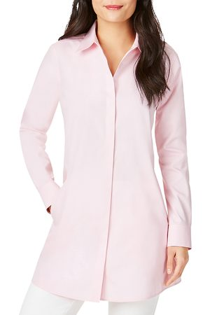 Foxcroft Cici Cotton Non-Iron Tunic Shirt