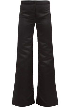 HALPERN Women Formal Pants - Flared High-rise Duchess-satin Trousers - Womens