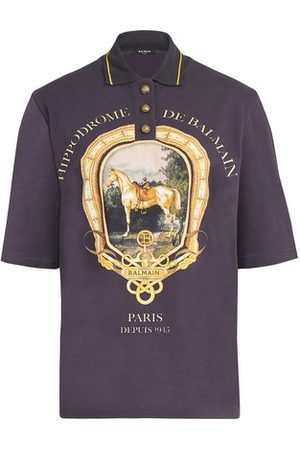 Balmain Women Polo Shirts - Printed polo shirt
