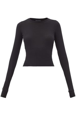 WARDROBE.NYC Women Long sleeves - Release 06 Long-sleeved Cropped Cotton-jersey Top - Womens