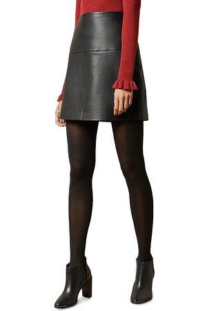 Ted Baker Valiat Leather Mini Skirt